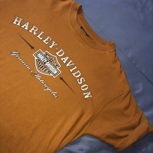 Harley Davidson Burnt Orange Tee